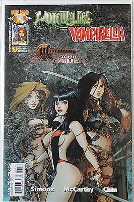 WITCHBLADE VAMPIRELLA TOMB RAIDER MAGDELENA #1 VARIANT Image Top Cow Aug 05 NM
