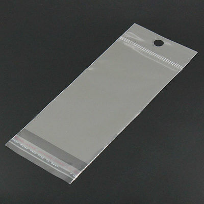 "200 Resealable Self-Sealing Bags usable space 12.2x6cm (4-3/4"" x 2-3/8"") bag0090"