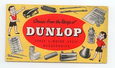 Vintage Dunlop Motorcycle & Bicycle Ink Blotter
