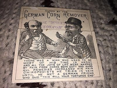 Vintage German Corn Remover By B F Arthur Co. New York Donald Brothers Card