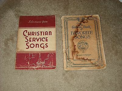 Vintage Lot Of 2 Choir Hymnal Paperback  Books, One Dated 1922. Very Rare.