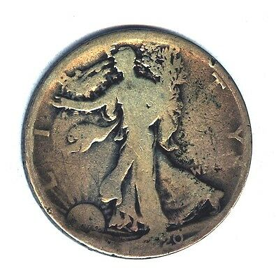 1920  S  Ag+ Condition  Walking Liberty Half Dollar  Silver 50 Cents