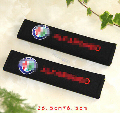 2pc Car Seat Belt Cover Shoulder Cushion for All Alfa Romeo -147 156 159 Spider