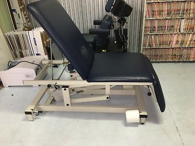 Physical Therapy/Chiropractic 3-section powered treatment table (Navy Blue)
