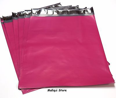 25 HOT PINK COLOR POLY SHIPPING BAGS 10x13 PLASTIC MAILER ENVELOPE MAILING BAGS