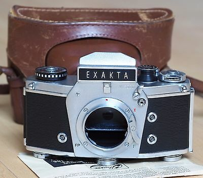 Exakta Ihagee VX1000 35mm film SLR camera body w/case | Varex VX 1000 Germany