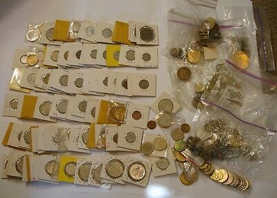 Box Full of World Coins VERY NICE MIX with a few Tokens more than 5 pounds total
