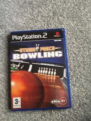 Playstation 2  Game_Strike Force Bowling + Manual