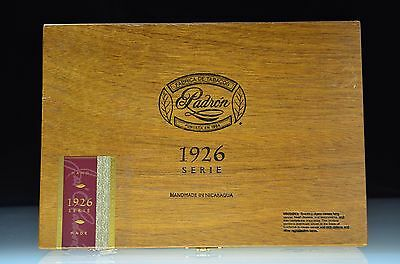 """Padron 1926 Serie Wood Dovetailed Brass & Wood Cigar Box 11"""" X 8"""" X 2"""""""