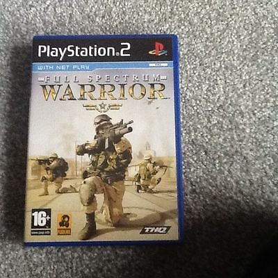 Playstation 2 Game_Full Spectrum Warrior + Manual