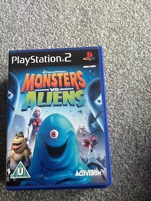 Playstation 2 Game_Monsters Vs Aliens + Manual