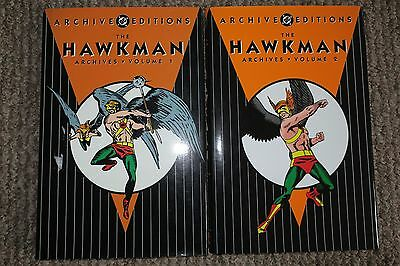 DC ARCHIVE EDITIONS - THE HAWKMAN Vols. 1 & 2 - Great Condition