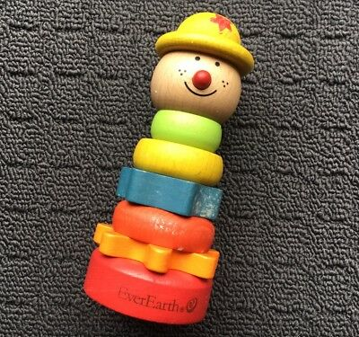 EVER EARTH Wooden Children's Stack-up Educational Activity Toy