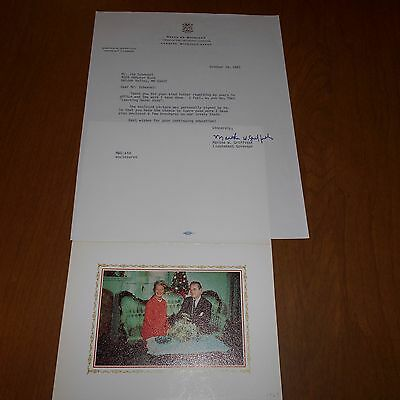 Martha W. Griffiths U. S. House Representative Hand Signed Letter  1983