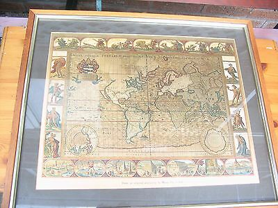 Blaeu Wall Map Of The World