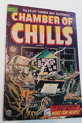 Chamber of Chills #21 (1954) VG- Classic Pre-Code Horror !