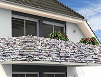 Balcony Privacy Screen Wind Protection 5m Panelling Patio Sun Wind Shade Fence