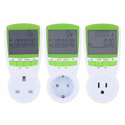 LCD Plug-in Energy Monitor Power Meter Electricity Electric Usage Socket TS-838