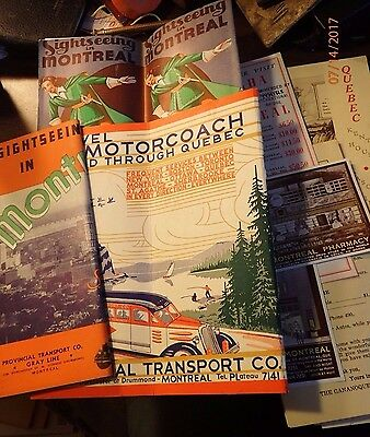 Small Lot of 1930s Quebec & Montreal Travel Brochures and Booklets
