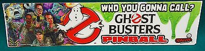 Stern Ghostbusters Promo Decal Sticker - Point Of Play Advertisement 12'' X 3''
