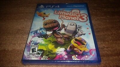Little Big Planet 3 Iii Original Playstation 4 Ps4 Brand New Sealed-!
