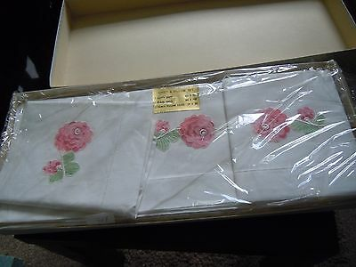 Vintage Irish Linen Sheet & Pillow Set  80 x 100 ( 2 sheets , 2 pillow cases )