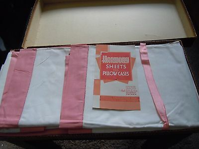 Vintage Boxed  Irish Egyptian Cotton Harmony sheets & pillow cases 70 x 104