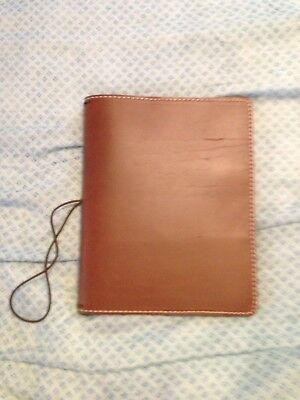 Chic Sparrow Deluxe Pelican Leather Brown A5 Travelers Notebook
