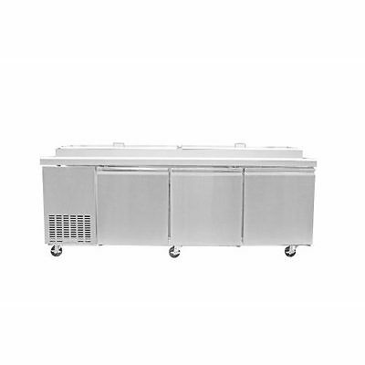 Saba Air SPP-91-12 Commercial Refrigerated Pizza Prep Table with pans Stainless