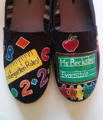 Teacher hand painted shoes