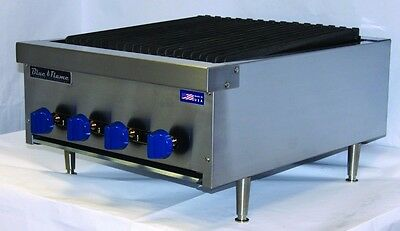 New Blue Flame Natural Gas Countertop Radiant Char Broilers BFRB 12, 18, 24, 36