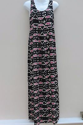 River Island maxi dress. Black and pink. Size 6