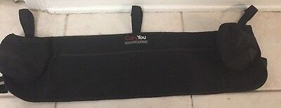 Carry You Double Side by Side Stroller Black Fabric Organizer Drink Holder 27""