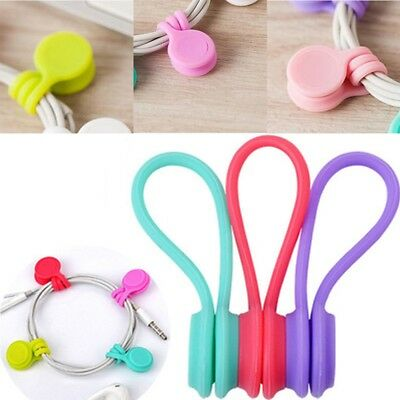 1PCS Multifunction Magnet Earphone Cord Winder Cable Holder Organizer Clips