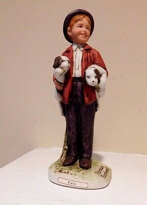 Norman Rockwell 5-1/2''  figurine The Country Gentleman Pals