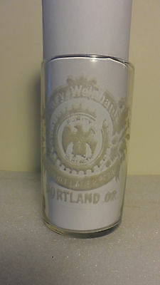 """Henry Weinhard's Etched Pre-Pro Beer Glass Tumbler Portland,or.  4"""""""