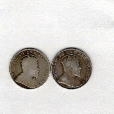 Newfoundland Canada Ten 10 Cents George VII 1903 and 1904H