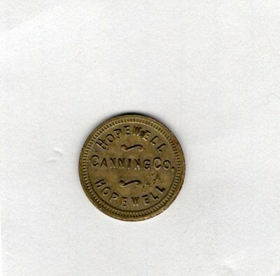 Hopewell Canning Company 1 Hopewell Maryland Canning Token