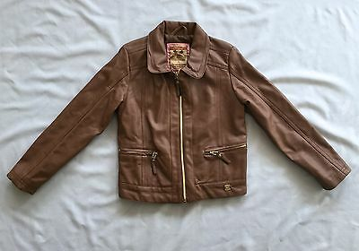 MAYORAL GIRLS BROWN FAUX LEATHER 6 yrs SZ 116 EUC