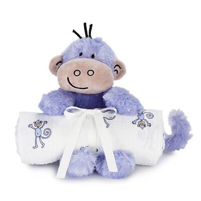 Aden and Anais Muslin Swaddle & Plush Toy Shower Gift Set - Jungle Jam Monkey