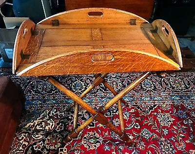 Antique Oak Victorian Butler's Table  c.1880
