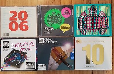 MINISTRY OF SOUND BULK LOT BUNDLE 6 DOUBLE CD's ANNUAL CHILL-OUT SESSIONS