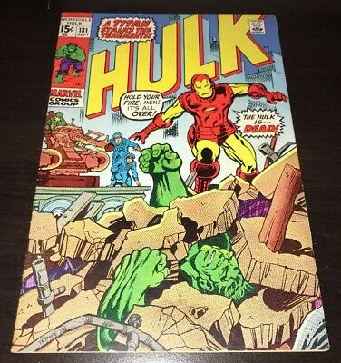 Incredible Hulk #131 1st Jim Wilson Marvel 1970 Bronze Age KEY Comic Iron Man