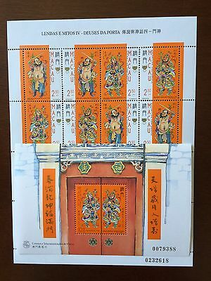 Macau Macao Legends And Myths Full Sheet Plus S/S Complete Set 50% OFF
