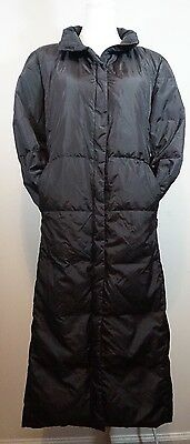 """Brooks Brothers Women's Long Padded Coat [Black] Size: Small 44"""" Long"""