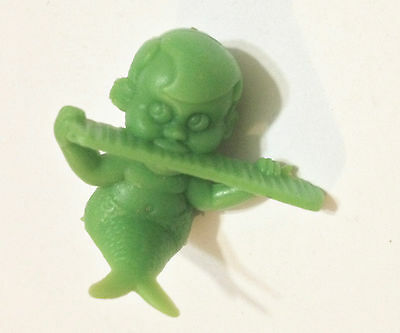 R&L CEREAL TOY NEPTUNES ~ MIKE MER-KID ~ RARE *GRASS GREEN* VINTAGE PREMIUM, 80s