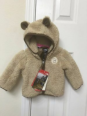 NWT! New!! The North Face Infant Plushee Bear Hoodie Size 0-3M, 3-6M, 6-12M $60