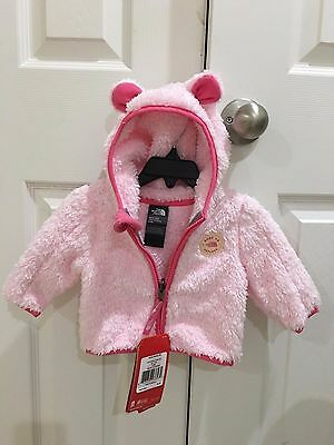 Brand New!! The North Face Baby Infant Girl Plushee Bear Hoodie Size 0-3M $60
