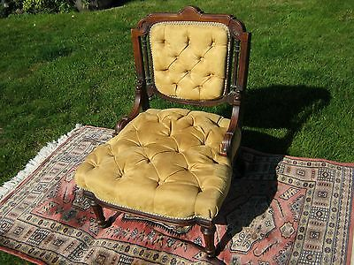 Victorian Salon Chair (or Ladies Chair) in Mahogany