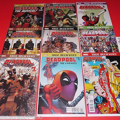 Deadpool #1 True Believers  ( 9-Different Reprint Marvel Comics ) 2016